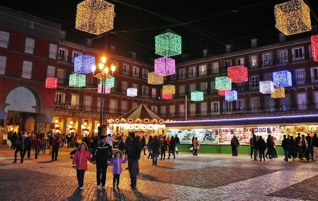 Mercado de Natal da Plaza Mayor