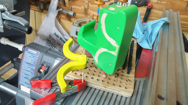 Handmade Wooden Toy Car - Bad Bob's Motors Coupe - Green - Yellow