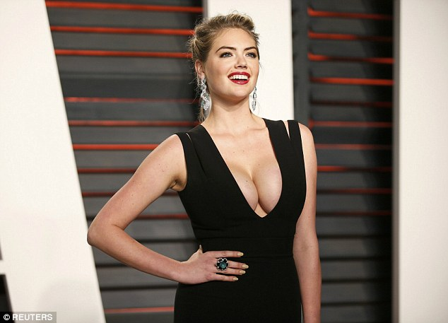 Kate Upton goes busty for the Vanity Fair Oscars Party