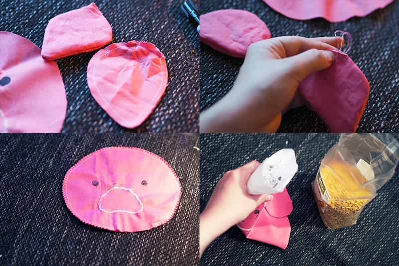 KuneCoco • DIY • Wärmekissen mit Dinkelfüllung • Schweinchen