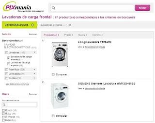 Comprar lavadoras online en Pixmania