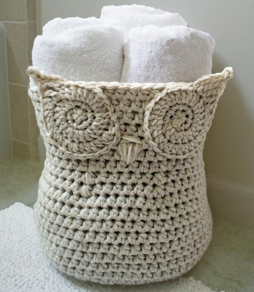 Crochet an Owl Basket + How to Read Crochet Patterns