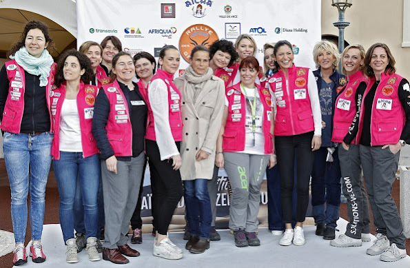 Pauline Ducruet and Jazmin Grace Grimaldi take part in the 28th annual 'Rallye Aïcha des Gazelles du Maroc