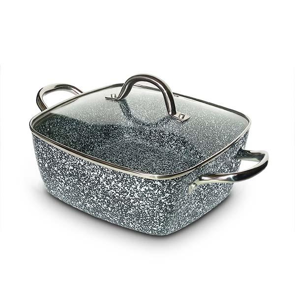 OX-05SQ 5Pcs Panci Oxone Granite Cookware Set