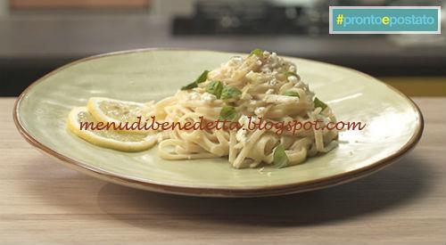 Pronto e postato - Linguine limone feta e basilico ricetta Benedetta Parodi