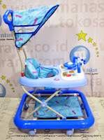 Family FB1827 Car Music Melodies with Lamp - Canopy Baby Walker