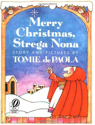 Merry Christmas Strega Nona, part of Favorite Character Christmas Book Review List for Kids