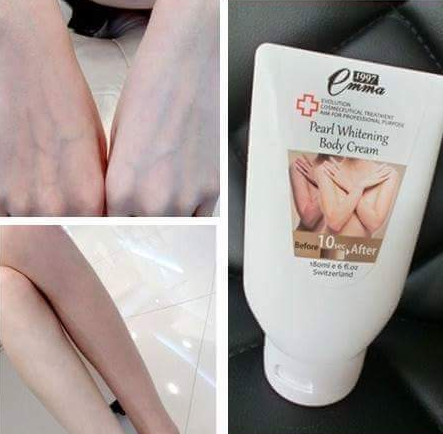 emma lotion pearl whitening body cream berkesan