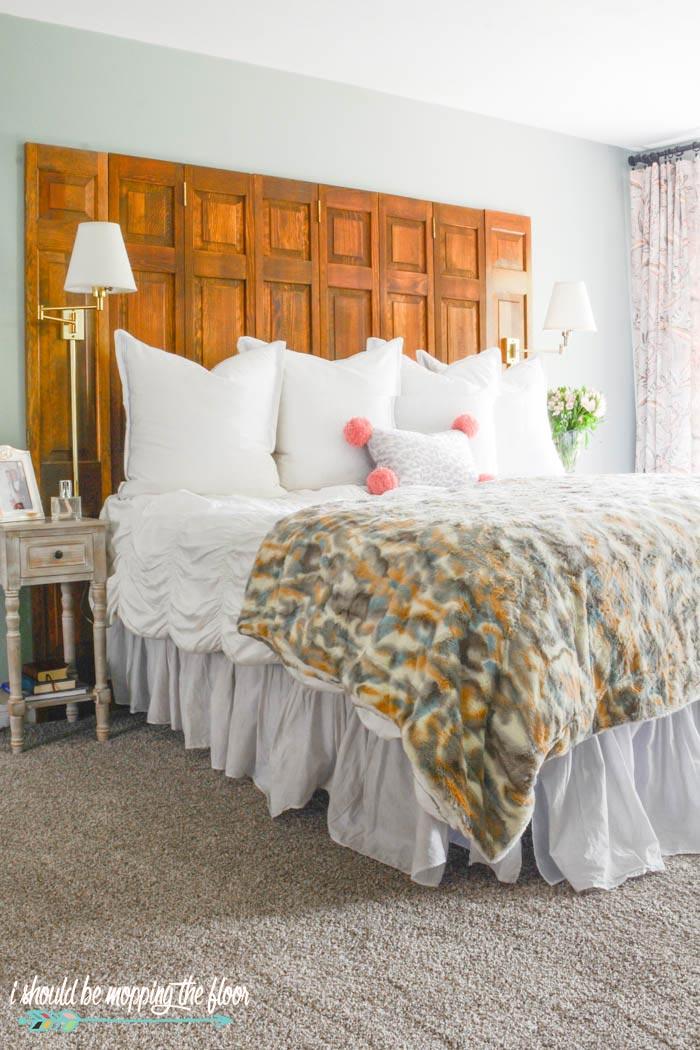 Leopard Print Pom Pom Pillow
