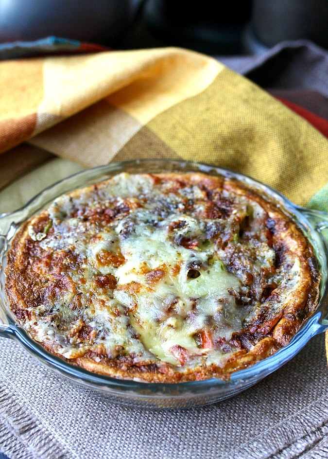 Air Fryer Cheesy Summer Vegetable Quiche