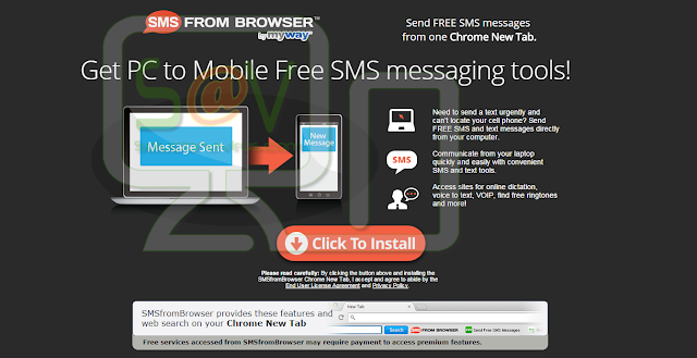 SMS From Browser Toolbar