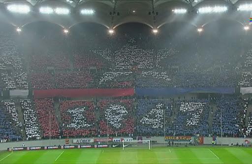 Steaua Bucharest fans' TIFO fail