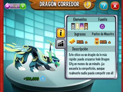 imagen del dragon corredor y sus caracteristicas