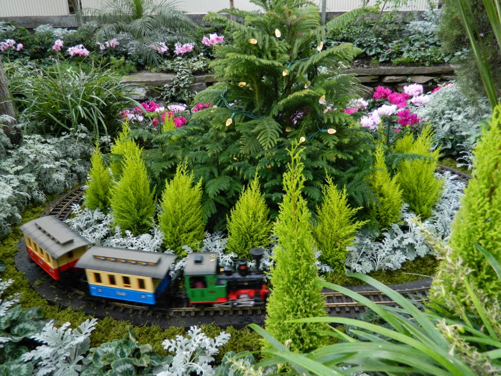 Allan Gardens Conservatory Christmas Flower Show 2014 toy train by garden muses-not another Toronto gardening blog