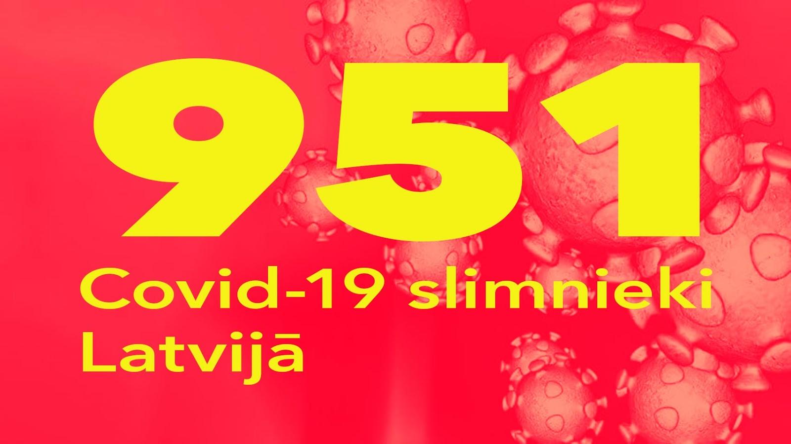 Koronavīrusa saslimušo skaits Latvijā 13.05.2020.