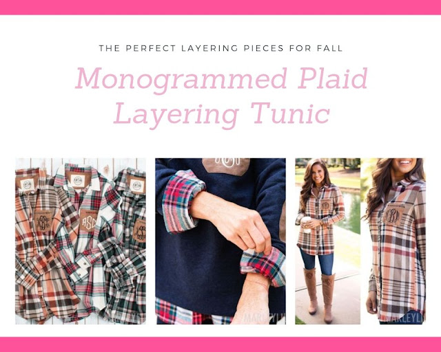 plaid button down tunics for layering