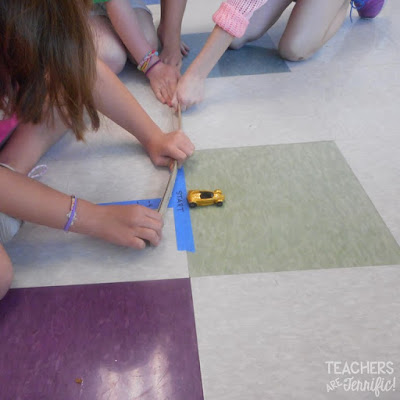 STEM Challenge: The idea was to pull back on the meter stick and allow it to project the little cars. We would measure the distances and determine how much force was needed to go the greatest distance! Sounds great, right? Read this post to find out how this worked!