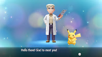 professor oak introducing pokemon lets go pikachu