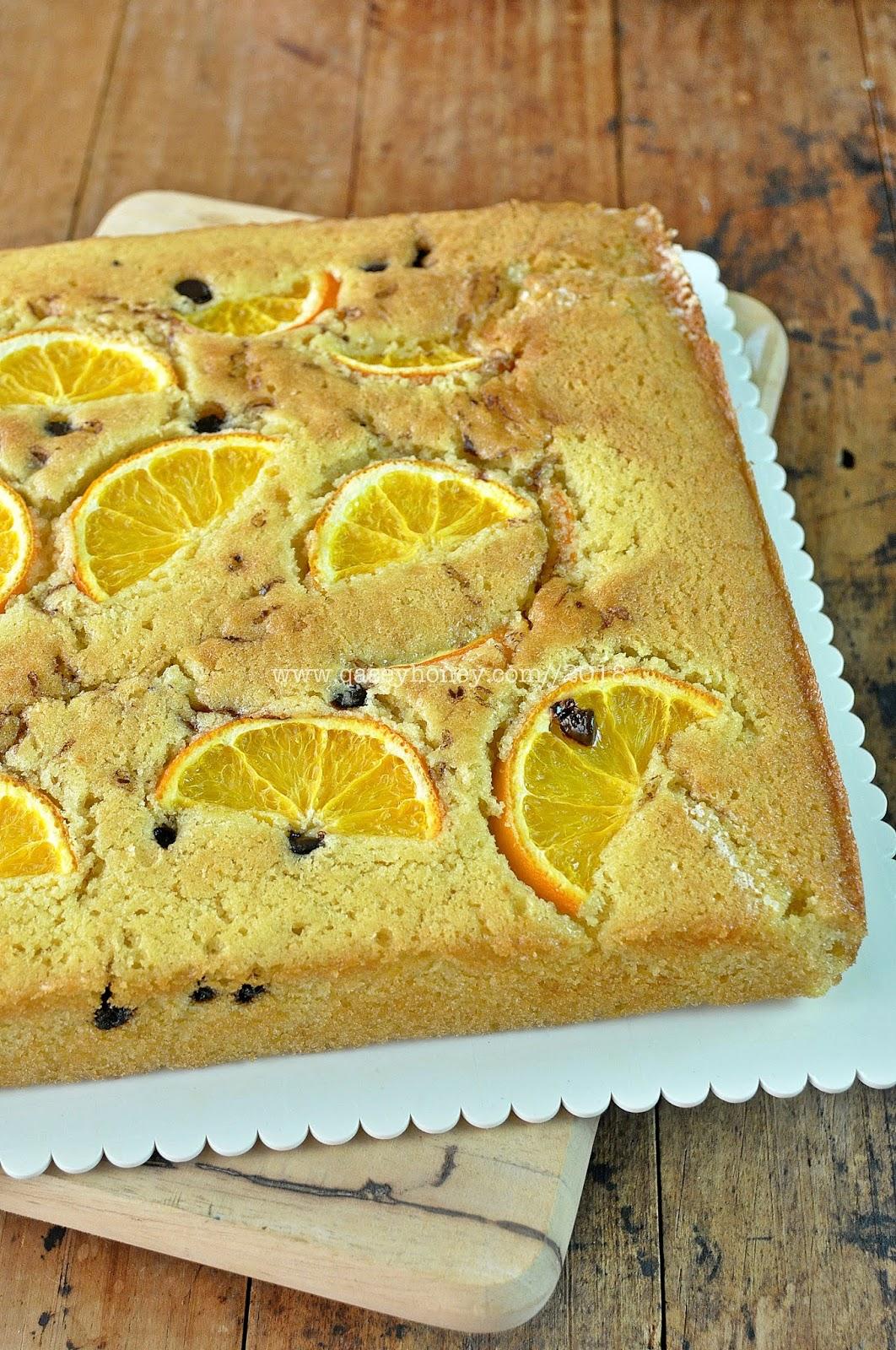 Orange Butter Cake Kek Mentega Oren Sedap Qasey Honey