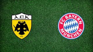 Бавария – АЕК Афины прямая трансляция онлайн 07/11 в 23:00 по МСК.