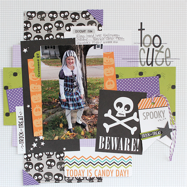 Too Cute Layout by Juliana Michaels using Bella Blvd Trick or Treat