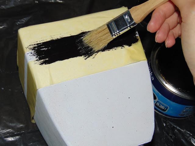 odnawianie doniczki farbą