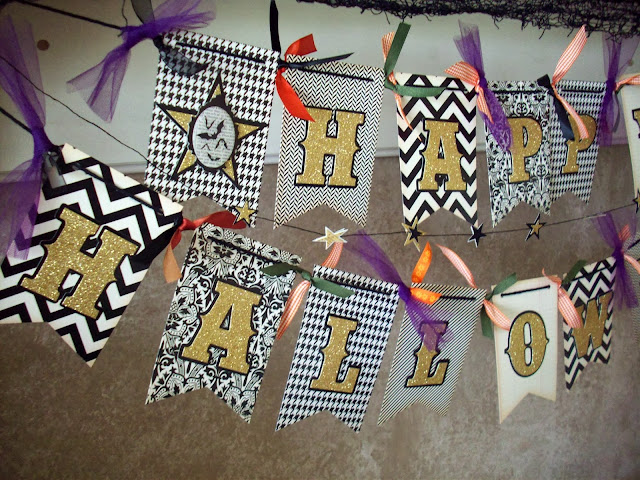 #Halloween #Banner with @AmericanCrafts #American Crafts