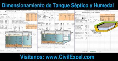 Dimensionamiento de Tanque Séptico y Humedal Artificial