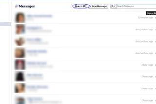 حذف جميع رسائل الفيس بوك دفعة واحدة
