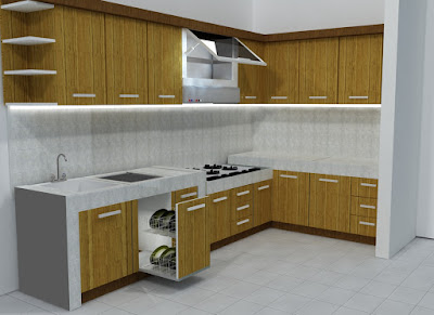 Kitchen Set Minimalis Modern Masa Kini