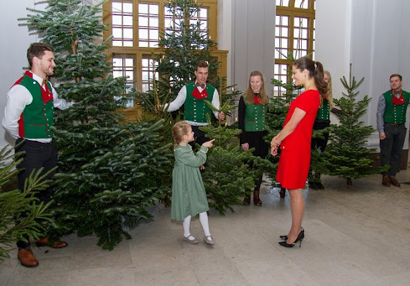 Crown Princess Victoria wore Prada Short-Sleeve Mini Dress, Princess Estelle wore Marie Chantal dress, Livly shoes