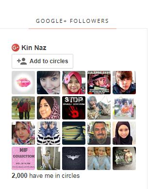 Google+ Followers Dah Mencecah 2K