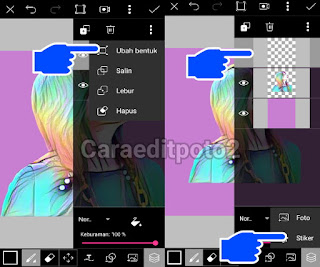 cara edit foto picsart terbaru magic splash