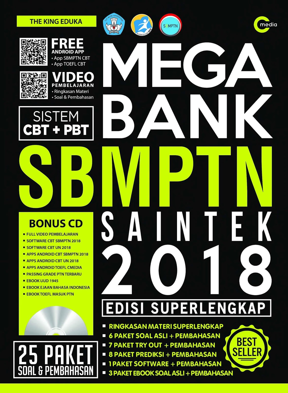 Download Mega Bank SBMPTN Saintek 2018 (Edisi Super Lengkap)