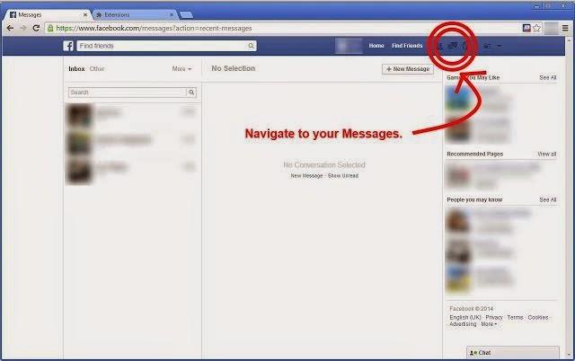 كيفية حذف جميع رسائل الفيسبوك مرة واحدة ؟