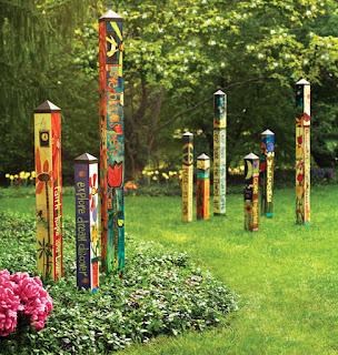 Garden Art Poles, peace poles