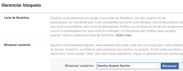 Quem te bloqueou no Facebook