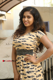 Telugu Actress Karunya Chowdary Stills in Short Dress at ATM Not Working Press Meet  0024.jpg