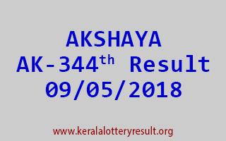 AKSHAYA Lottery AK 344 Result 09-05-2018