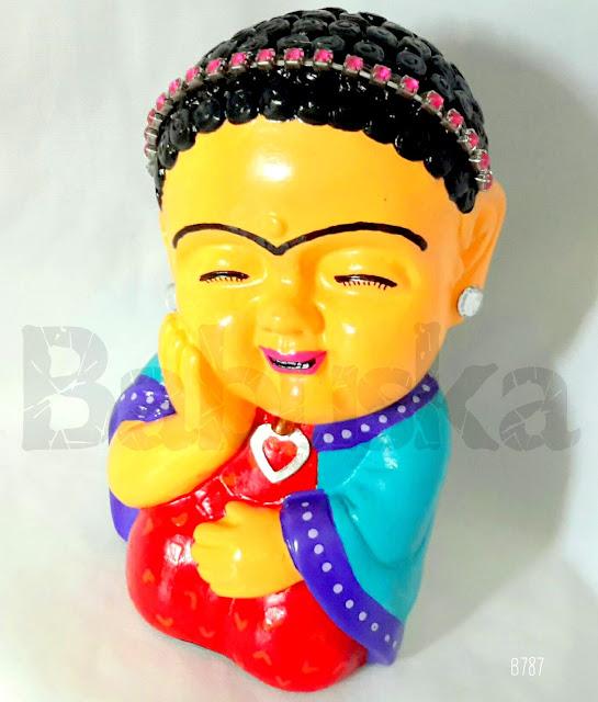 """Buda """"Frida Kahlo"""", pintado y laqueado a mano (B787) Babuska"""