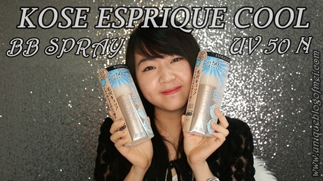 KOSE ESPRIQUE COOL BB SPRAY UV 50N REVIEW