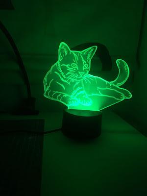 luz de noche, lampara de mesa, lampara de noche, luz led, led, led gato, ahat,