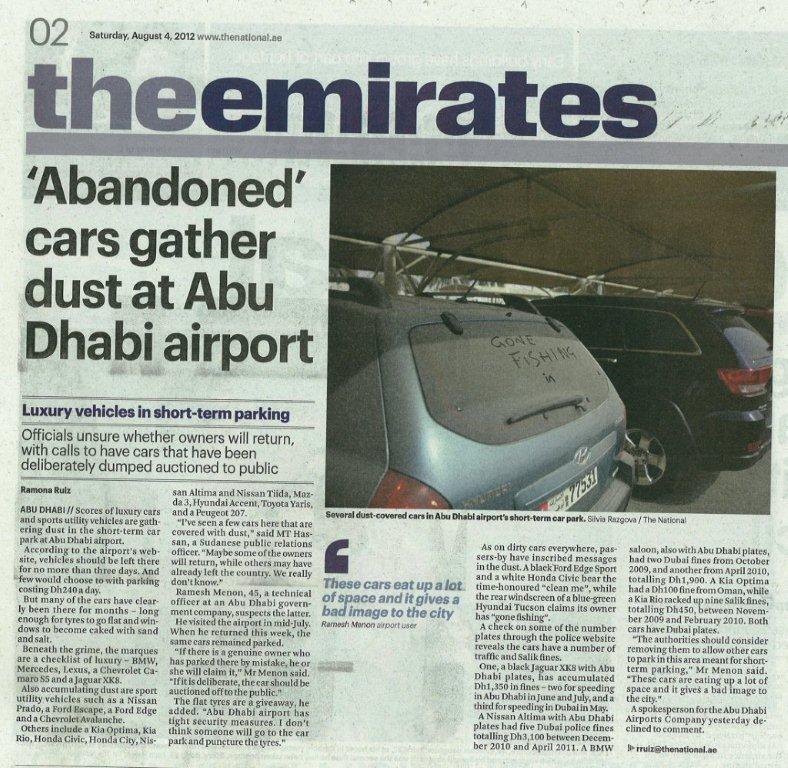 Ramesh Menon's Clicks And Writes: 'Abandoned' Cars Gather