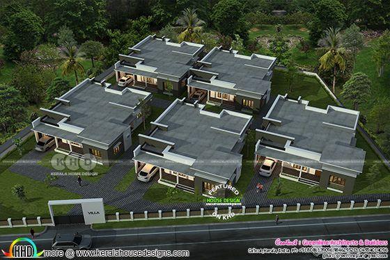 Drone view if villa