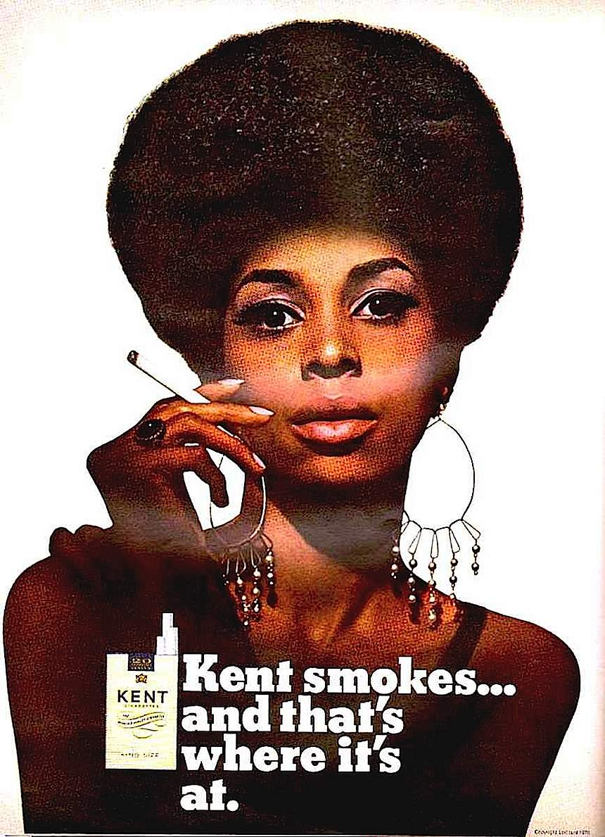 1970 Kent cigarettes ad, Kent smokes and that's where it's at