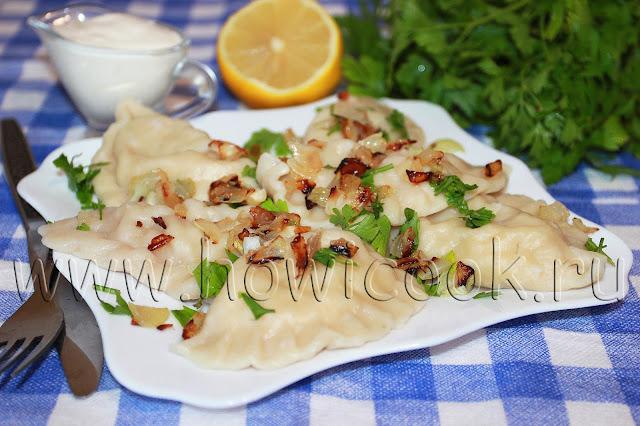 рецепт вареников с картофелем