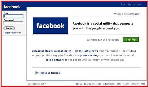 Facebook Old Login Page