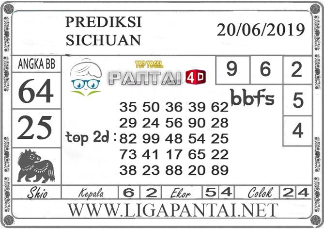 """PREDIKSI TOGEL """"SICHUAN"""" PANTAI4D 20 JUNI 2019"""