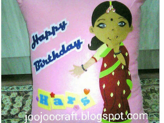 Indian Birthday Pillow