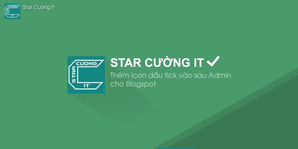 Thêm icon dấu tick vào sau Admin cho Blogspot, Blogger